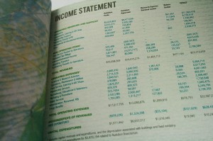 Income statements show the results of the company's operations over time